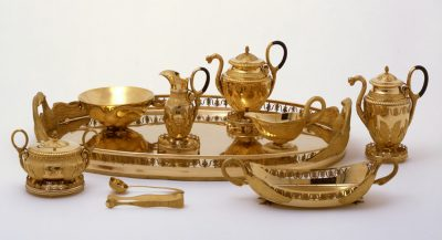 Goldenes Tee-und Kaffeservice von Königin Katharina