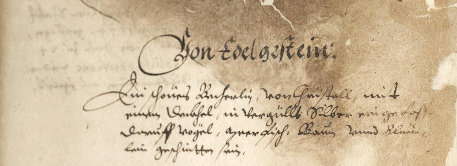Inventar der Sammlung Guth von Sulz, 1624 (Hauptstaatsarchiv Stuttgart, Signatur A 20 a Bü 4, fol. 10v)