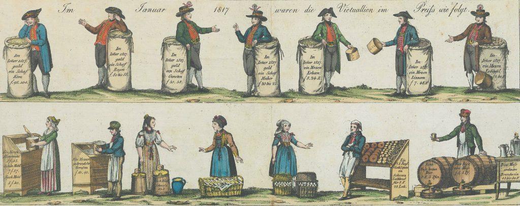 V. Zanna & Co. Victualien Preiße in dem Theuerungs Jahre 1817 im Monate Januar. Quelle: HStAS J 302 Nr. 57