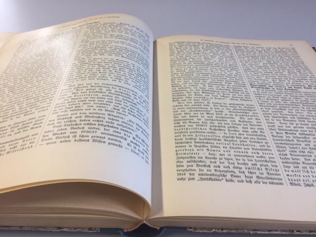 """Ein Teil der """"Hungerchronik"""" findet sich in den """"Jahrbüchern für Statistik und Landeskunde"""" für 1916. ©Landesmuseum Württemberg, Foto: Sabine Zinn-Thomas, CC BY-SA"""