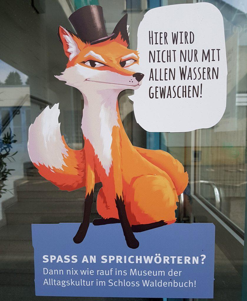 Der Fuchs am Haupteingang des mittelständischen Herstellers von Neutralseife Foto © Carmen Ruf, Haka Kunz Waldenbuch