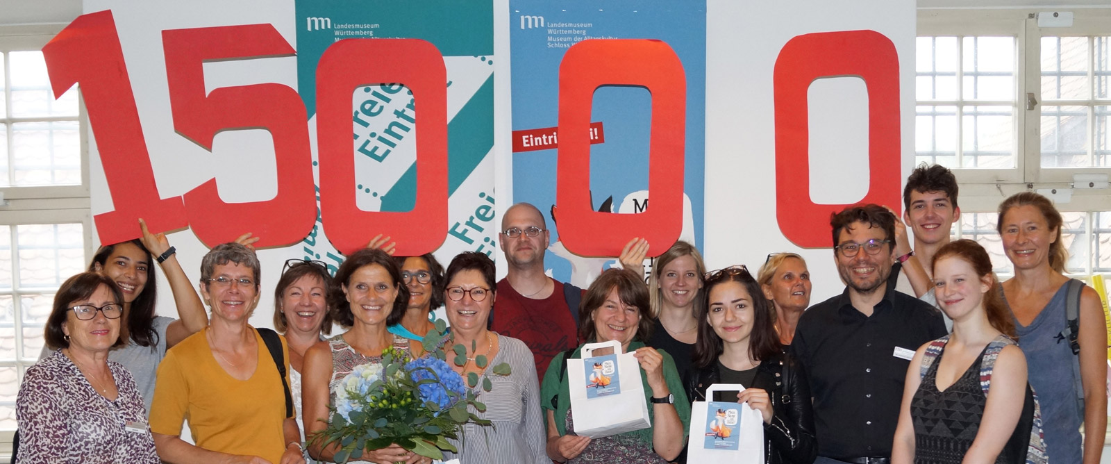 """15.000ster Besucher in der Mitmachausstellung """"Mein Name ist Hase"""""""