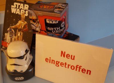 Star Wars Tasse, Freundebuch und Duschgel © Kristina Scheinhardt, Landesmuseum Württemberg