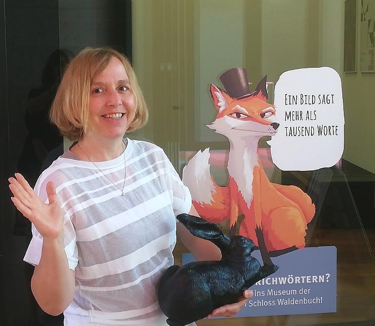 Dr. Barbara Willert vor dem Museum Ritter in Waldenbuch