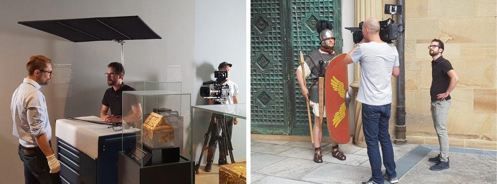 Im Gespräch mit einem Schwertsammler und einem römischen Legionär.