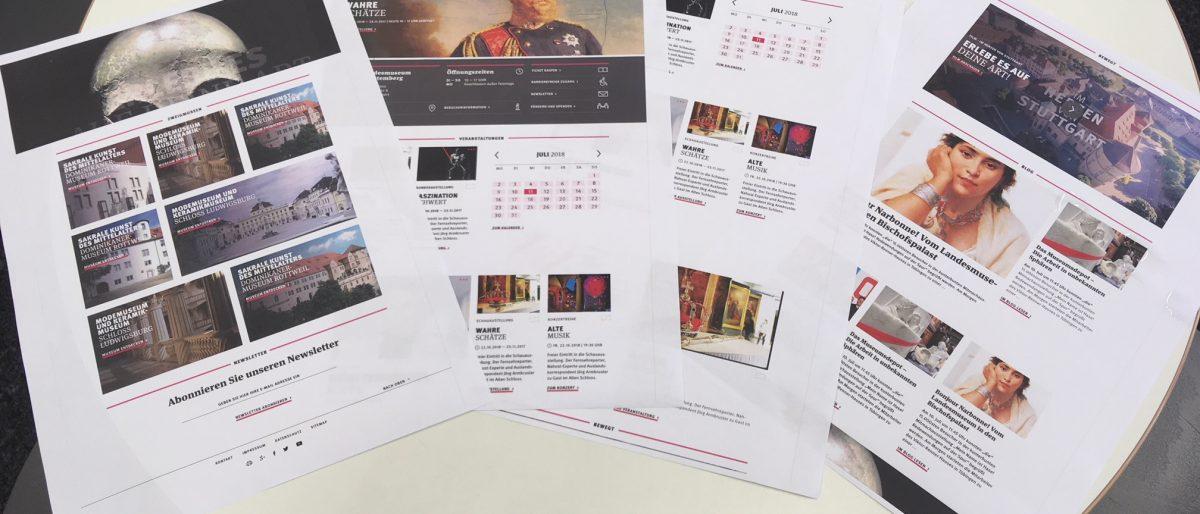 Designentwürfe auf Papier