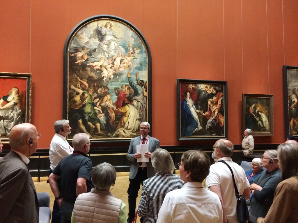 Olaf Siart führt in der Gemäldegalerie des Kunsthistorischen Museums.