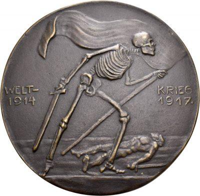 Medaille auf die Schrecken des Ersten Weltkriegs, 1917 (Rückseite) © Landesmuseum Württemberg, CC BY-SA