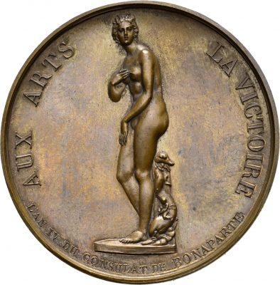 Lediglich die Ansicht unterscheidet sich bei der Medaille, sonst wurde die Venus Medici detailgetreu abgebildet. © LMW CC BY-SA