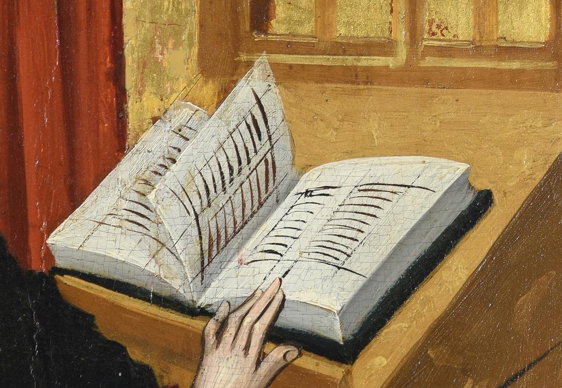 Buch, Detailaufnahmen aus dem Bildprogramm des Lichtensterner Altars © Landesmuseum Württemberg
