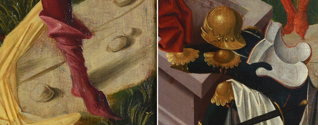 Detailaufnahmen aus dem Bildprogramm des Lichtensterner Altars © Landesmuseum Württemberg