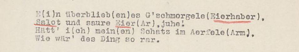 Schwäbisches Volkslied (1911) Sammlung Landesstelle für Volkskunde