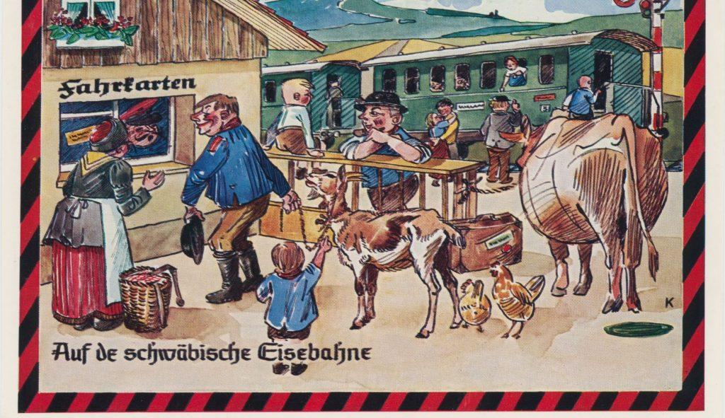 Schwäbische Eisenbahn. Postkarte