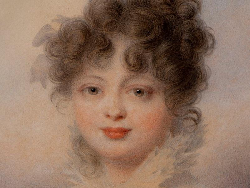 Großfürstin Katharina, Jean-Baptiste Isabey, Aquarell, 1815