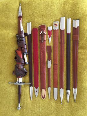Diverse Schwertscheiden © Ulrich Langbehn