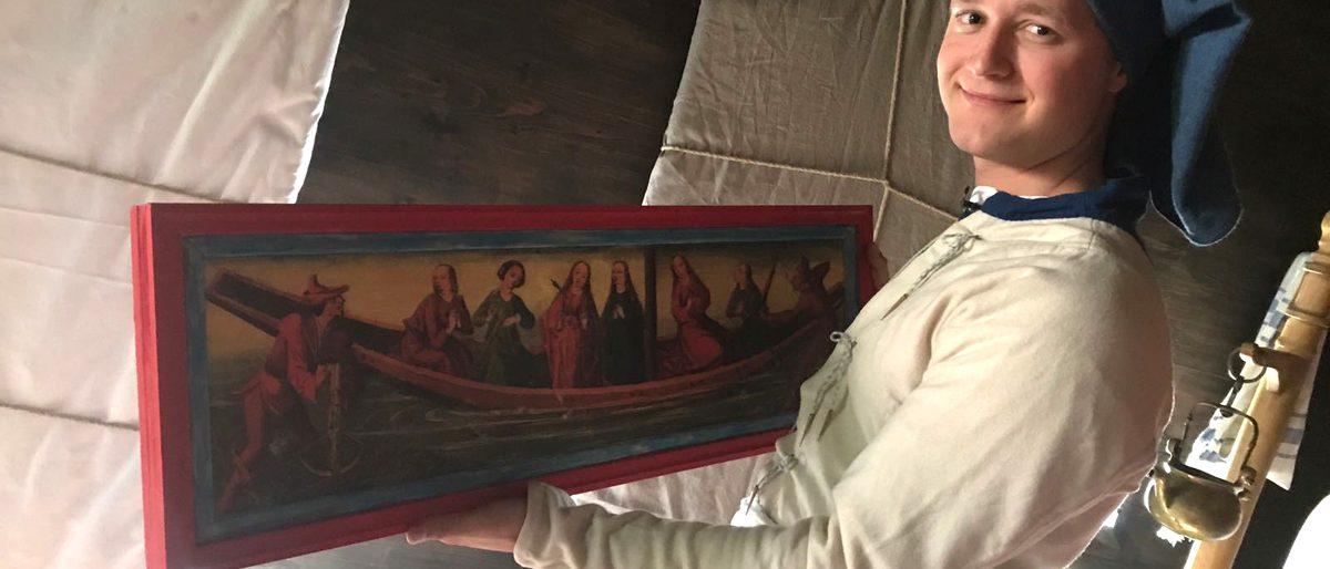 Michel mit Ursula-Tafel