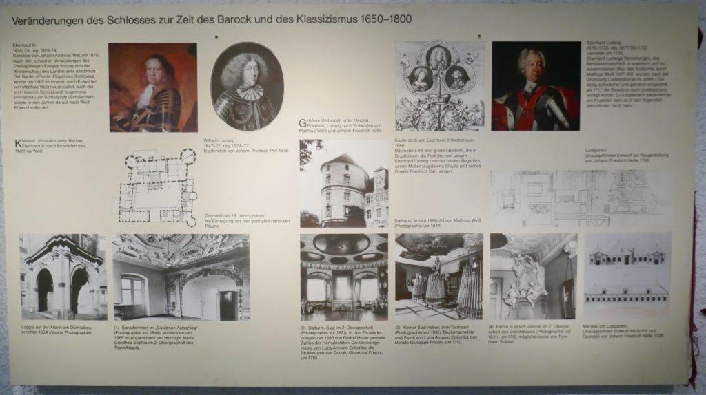 Ausstellungstafeln im Vorraum der Gruft im Alten Schloss aus dem Jahr 1983
