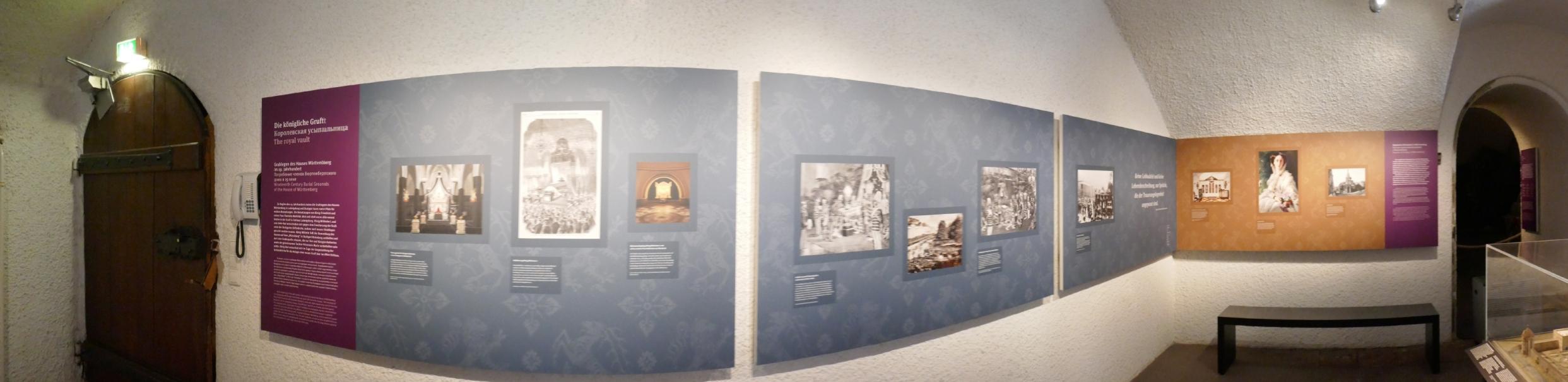 neue Ausstellungstafeln im Vorraum der Gruft ab 24.07.2019 © Landesmuseum Württemberg CC BY-SA