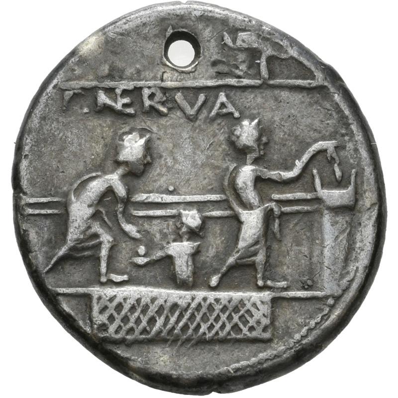 Eine Münze mit der Darstellung einer geheimen Stimmabgabe